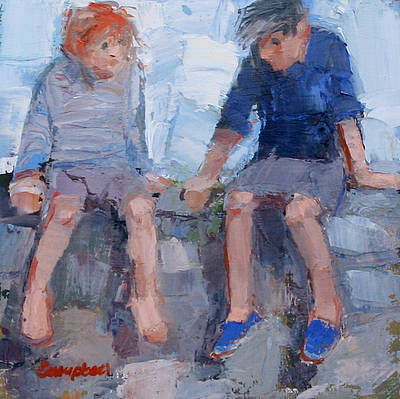 Modern Artist Catriona CAMPBELL - Children on the Wall