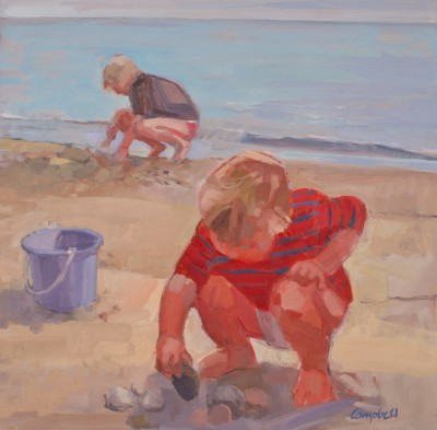 Modern Artist Catriona CAMPBELL - Sea-Shore Squatters