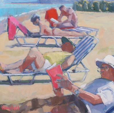 Modern Artist Catriona CAMPBELL - Beach Idlers