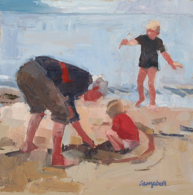 Modern Artist Catriona CAMPBELL - Granny and the Children