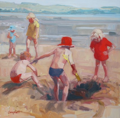 Modern Artist Catriona CAMPBELL - Low Tide - Solway Summer