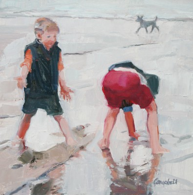 Modern Artist Catriona CAMPBELL - Very Low Tide - St. Andrews