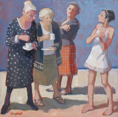 Modern Artist Catriona CAMPBELL - Susannah and the Old Ladies