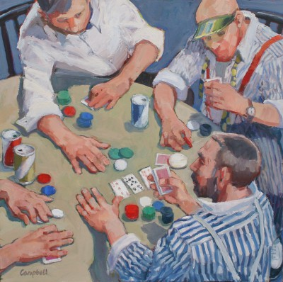 Modern Artist Catriona CAMPBELL - Poker Players