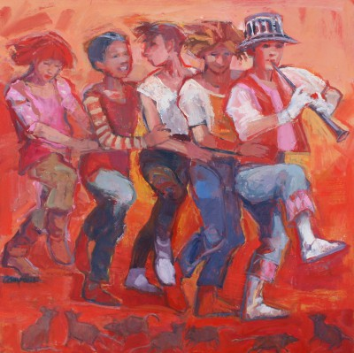 Modern Artist Catriona CAMPBELL - Pied Piper