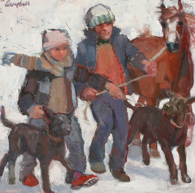 Catriona CAMPBELL - A Man, a Boy, Two Dogs and a Pony