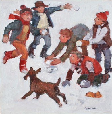 Modern Artist Catriona CAMPBELL - Big Snowball Fight