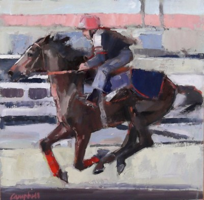 Modern Artist Catriona CAMPBELL - Morning Gallop at the Track