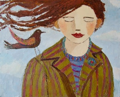 Modern Artist Catriona MILLAR - Emily and Little Wing