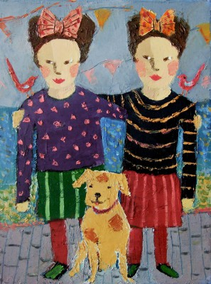 Modern Artist Catriona MILLAR - Fran and Jan