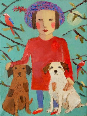 Modern Artist Catriona MILLAR - Rufus and Red