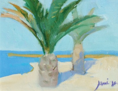 Modern Artist Charles JAMIESON - Seaside Palms, Le Marche