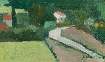 Modern Artist Charles JAMIESON - Country Road, Languedoc