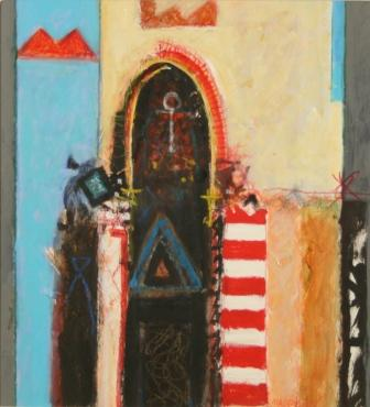 Modern Artist Charles MacQUEEN - The Priest's House, Monastir