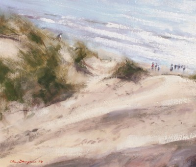 Modern Artist Chris DAYNES - Dunes at Camber, Sussex