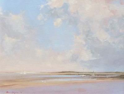Modern Artist Chris DAYNES - The Marshes, North Norfolk