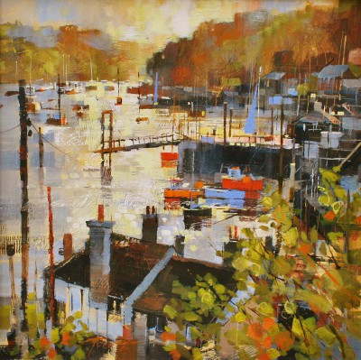 Modern Artist Chris FORSEY - Into the Sun, Polruan