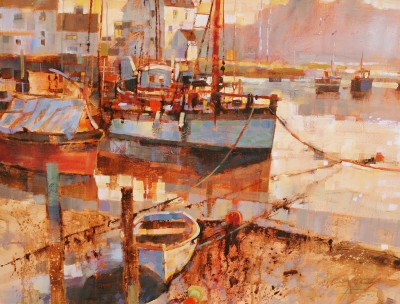 Modern Artist Chris FORSEY - Mist in the Morning, Woodbridge
