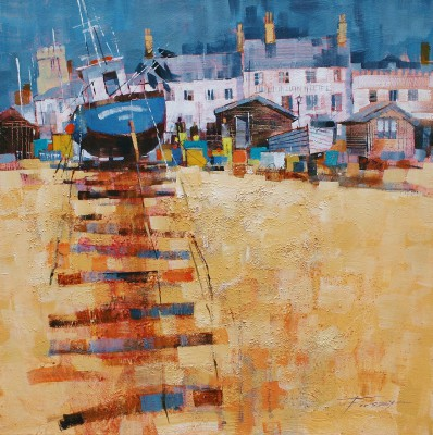 Modern Artist Chris FORSEY - Up the Beach, Aldeburgh