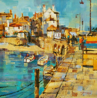 Modern Artist Chris FORSEY - Harbourside, St Ives