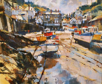 Modern Artist Chris FORSEY - Port Isaac, July Morning