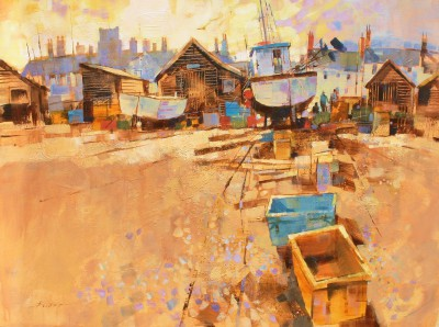 Modern Artist Chris FORSEY - Top of the Beach, Aldeburgh