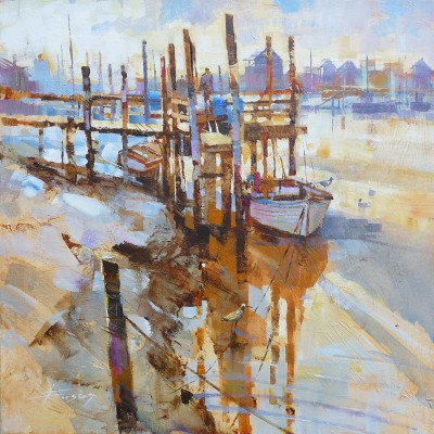Modern Artist Chris FORSEY - Early One Morning, Southwold