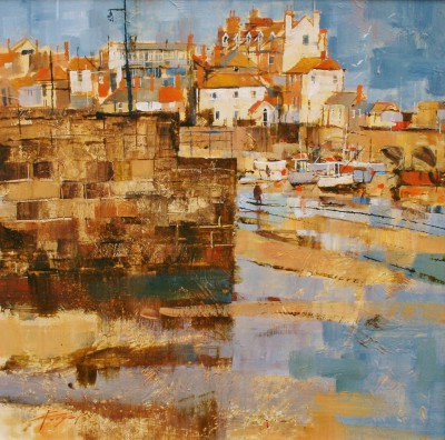 Modern Artist Chris FORSEY - Into the Harbour, St Ives