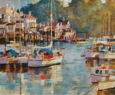 Modern Artist Chris FORSEY - Calm Evening, Dartmouth