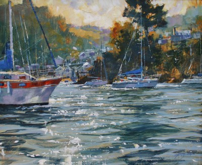 Modern Artist Chris FORSEY - In on the Tide, the Dart