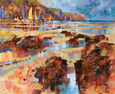 Modern Artist Chris FORSEY - Summer Sailing