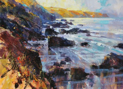 Modern Artist Chris FORSEY - Early Sunshine, North Cornwall