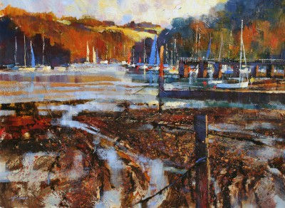 Modern Artist Chris FORSEY - Late Afternoon, Late Summer, Dittisham