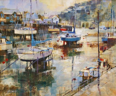 Modern Artist Chris FORSEY - Low Water and Early Morning Light