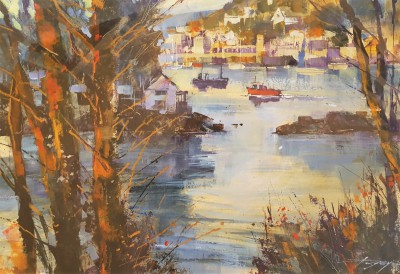 Chris FORSEY - Low Sun, Calm Waters, Warfleet, Dartmouth
