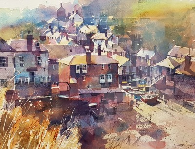 Modern Artist Chris FORSEY - Hazy Morning, Port Isaac