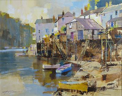 Modern Artist Chris FORSEY - April Morning, Fowey