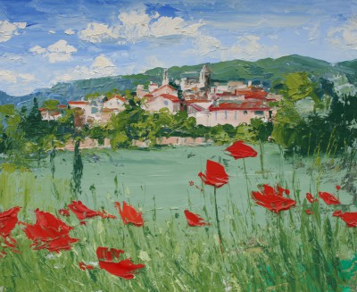Colin CARRUTHERS - Poppies, Provence