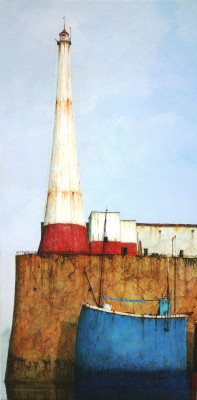 Modern Artist Cyril CROUCHER - Lighthouse at Newlyn