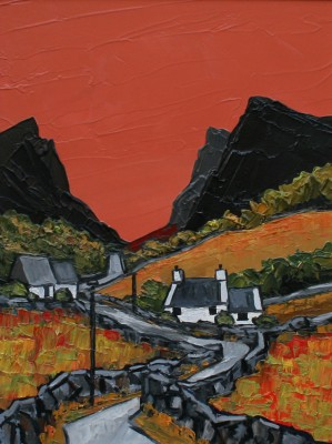 The Pass painting by artist David BARNES