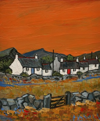 David BARNES - Sunset at Nant