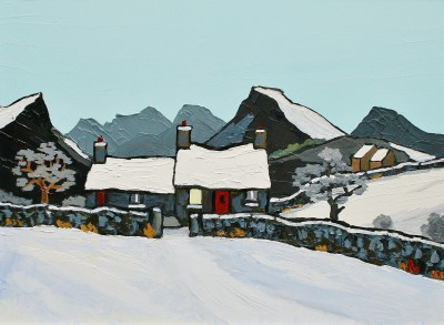 Modern Art from artist - David BARNES - Cottage in the Rhiniogs