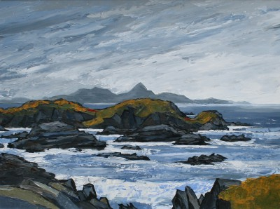 The Eddying Tide at Newborough painting by artist David BARNES