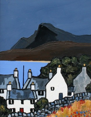 Modern Artist David BARNES - Seaside Cottages