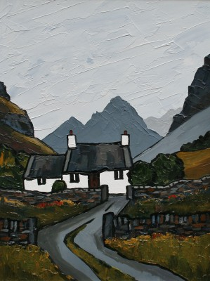 Modern Artist David BARNES - In the Carneddau