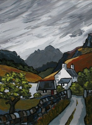 Modern Artist David BARNES - Mountain Lake