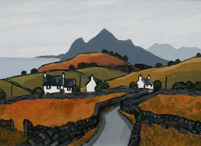 Modern Artist David BARNES - North Coast of Lleyn