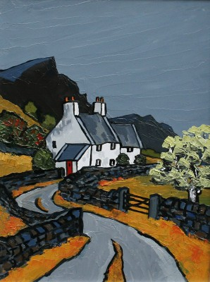 Modern Artist David BARNES - Towards Snowdonia