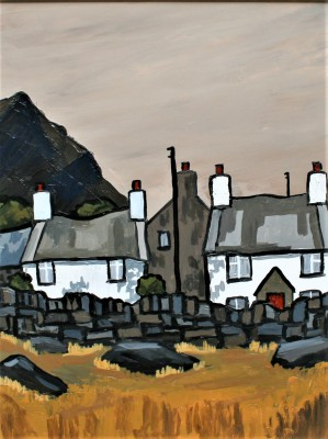 Modern Artist David BARNES - Cottages near Siabod