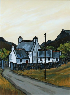 Modern Artist David BARNES - Mountain Farm